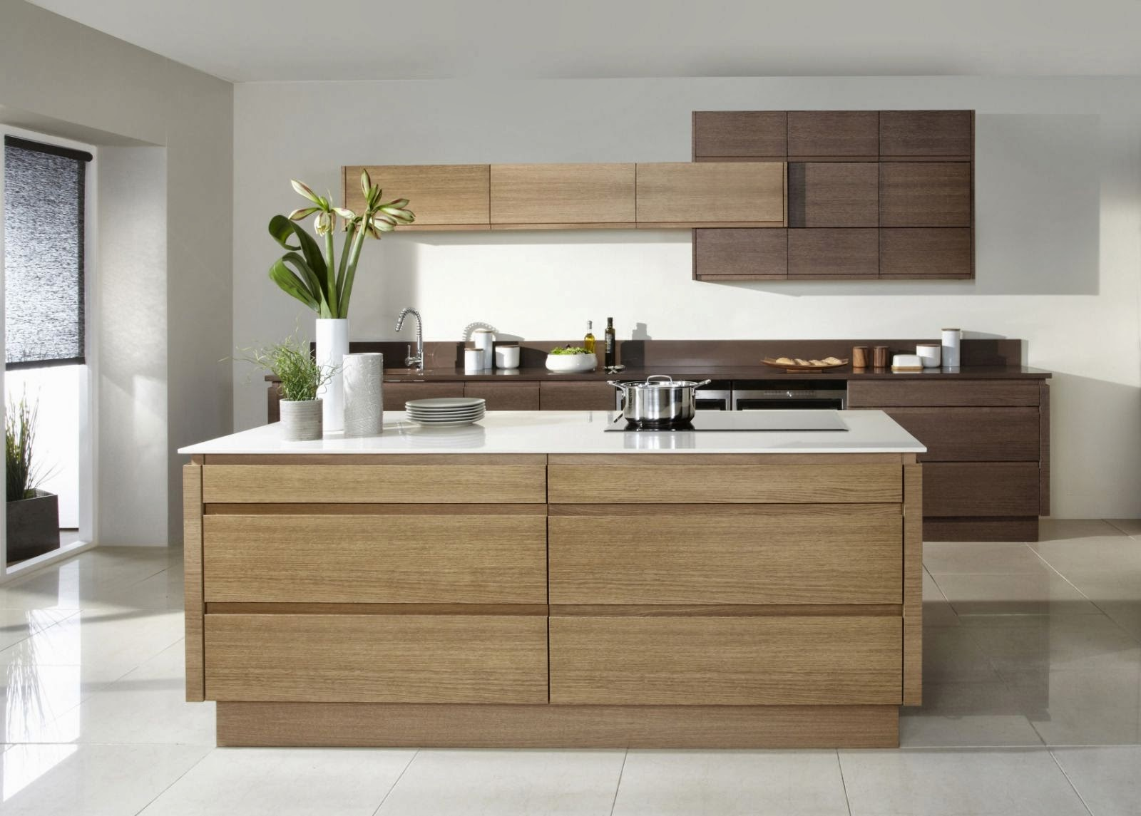 Modern kitchens handleless kitchens Handleless kitchen drawers design